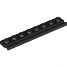 LEGO 451001 PLATE 1X8 WITH RAIL - NOIR