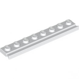 LEGO 4250463  PLATE 1X8 WITH RAIL - BLANC