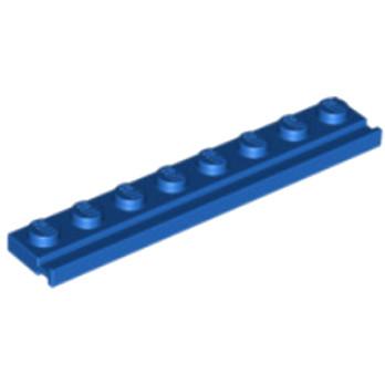 LEGO 451023 PLATE 1X8 / RAIL - BLEU