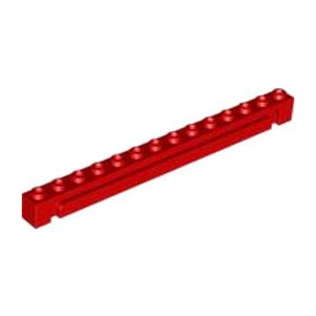 LEGO 421721 BRICK 1X14 W. GROOVE - ROUGE