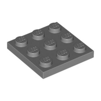 LEGO  6039176 PLATE 3X3 - Dark Stone Grey