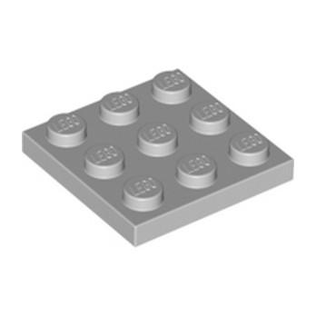 LEGO 6015347 PLATE 3X3 - Medium Stone Grey
