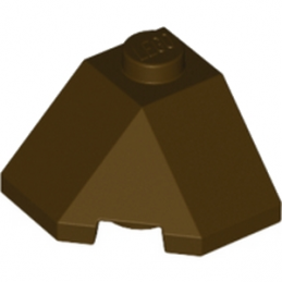 LEGO 6034202  ROOF TILE 2X2X1 45° - DARK BROWN