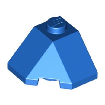 LEGO 6035354  ROOF TILE 2X2X1 45 DEGR. - BOT. 45 DEGR. - BLEU