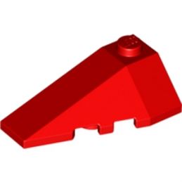 LEGO 4180409 LEFT ROOF TILE 2X4 W/ANGLE - ROUGE