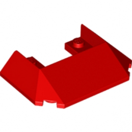 LEGO 6174962 ROOF FRONT 6X4X1  - ROUGE