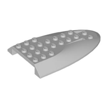 LEGO  6186796 - Fuselage d' avion courbé section arrière 6 x 10 - Médium Stone Grey
