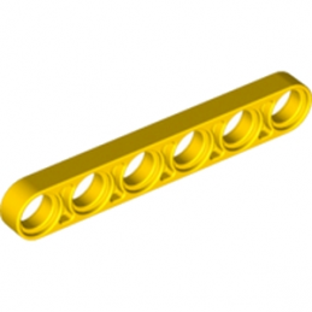 LEGO 6063252 TECHNIC 6M HALF BEAM - JAUNE