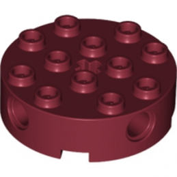 LEGO 6057433 - Brique Rond Technic 4x4 - New Dark Red