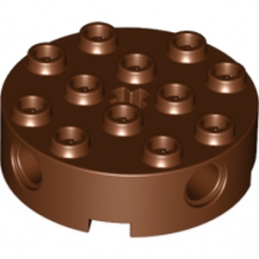 LEGO 4223681 - Brique Rond Technic 4x4 - Reddish brown