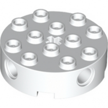LEGO 4203583 - Brique Rond Technic 4x4 - Blanc