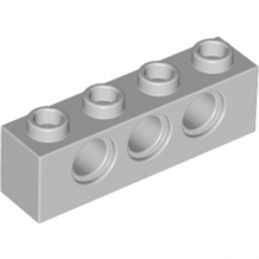 LEGO 4211441	TECHNIC BRICK 1X4, Ø4,9 - Medium Stone Grey