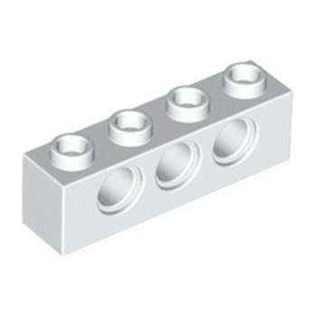 LEGO 370101TECHNIC BRICK 1X4, Ø4,9 - BLANC
