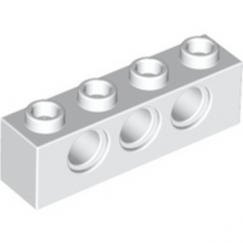 LEGO 370101TECHNIC BRICK 1X4, Ø4,9 - BLANC lego-370101-technic-brique-1x4-o49-blanc ici :