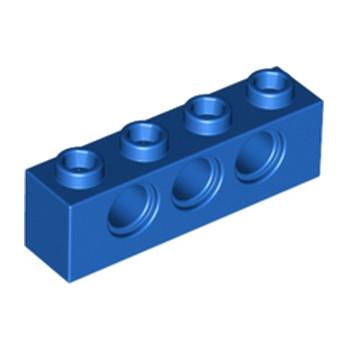 LEGO 370123 TECHNIC BRICK 1X4, Ø4,9 - BLEU