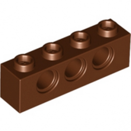 LEGO 4267994	TECHNIC BRICK 1X4, Ø4,9 - Reddish Brown lego-4267994-technic-brick-1x4-o49-reddish-brown ici :
