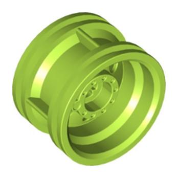 LEGO 6133517 RIM WIDE W.CROSS 30x20 - Bright yellowish green