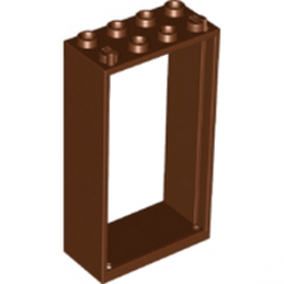 LEGO 6132813 FENETRE  2X4X6 - REDDISH BROWN