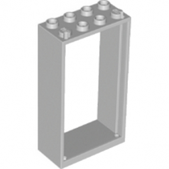 LEGO 6170385 -  Cadre Fenetre 2x4x6 - Médium Stone Grey