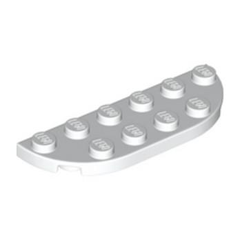 LEGO 6147792 1/2 Circle Plate 2X6 - Blanc