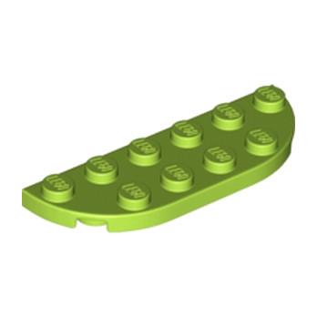 LEGO 6173012 1/2 Circle Plate 2X6 - Bright yellowish green