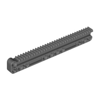 LEGO 6273338 - GEAR RACK 14X2M W/GROOVE - DARK STONE GREY