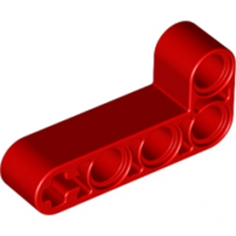 LEGO 4125200  TECHNIC ANG. BEAM 4X2 90 DEG - ROUGE