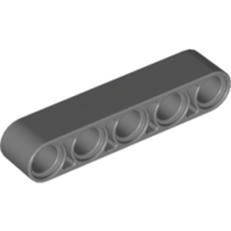 LEGO 4210686	TECHNIC 5M BEAM - Dark Stone Grey lego-4210686-technic-5m-beam-dark-stone-grey ici :