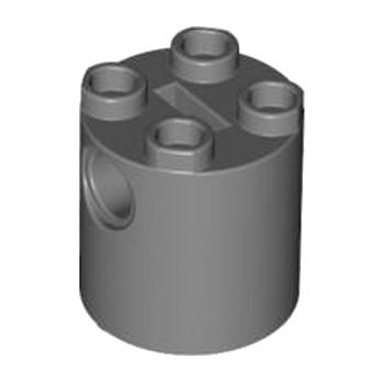 LEGO 4161673 - Brique Rond Technic 2x2x2 - Dark Stone Grey