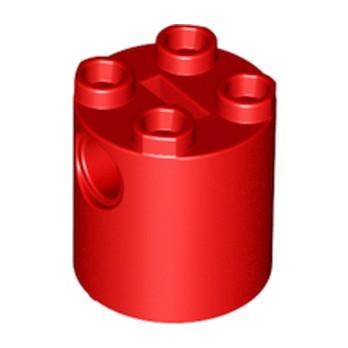 LEGO 4244747 - Brique Rond Technic 2x2x2 - ROUGE