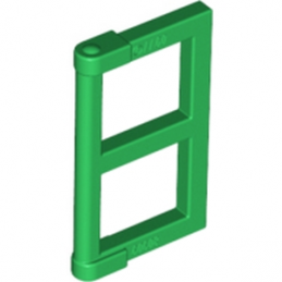LEGO 6112266 WINDOW ½ FOR FRAME 1X4X3 - DARK GREEN