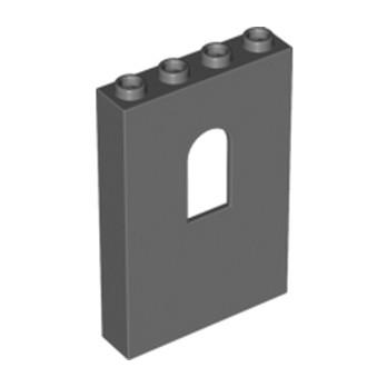 LEGO 4537057 WALL 1X4X5 W/BOWED SLIT - Dark Stone Grey