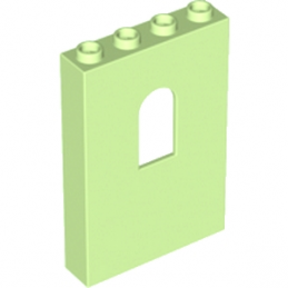 LEGO 6059149 MUR / CLOISON 1X4X5 - SPRINT YELLOWISH GREEN