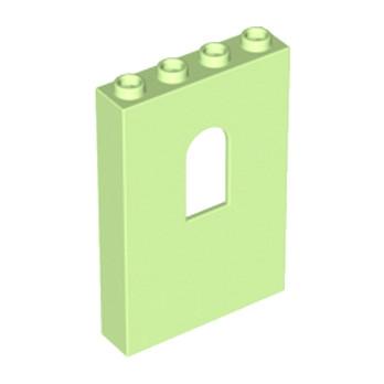LEGO 6059149 WALL 1X4X5 W/BOWED SLIT - Vert Anis