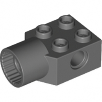 LEGO BRIQUE 2X2 Ø4.85 FEMALE - Dark Stone Grey