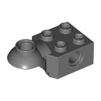 LEGO 4227395 BRICK 2X2 Ø4.85 HORIZ. SNAP - Dark Stone Grey