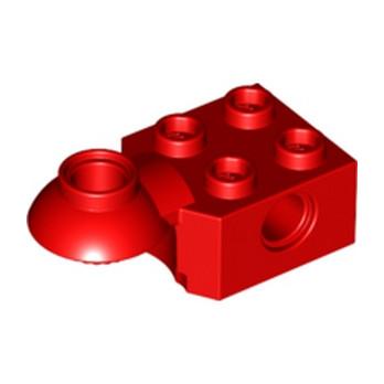 LEGO 4225923 BRICK 2X2 Ø4.85 HORIZ. SNAP - ROUGE