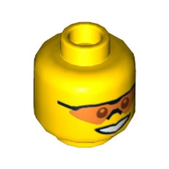 LEGO 4652361 TÊTE HOMME AVEC LUNETTE