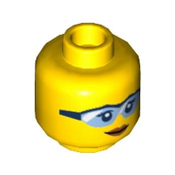 LEGO 6174454  TÊTE FEMME AVEC LUNETTE
