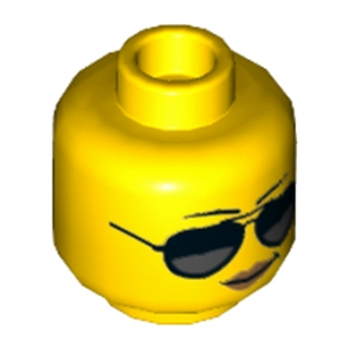 LEGO 6176636  TÊTE FEMME AVEC LUNETTE