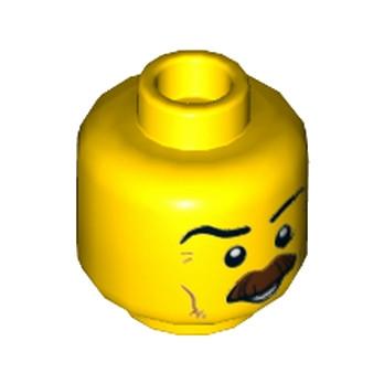 Lego® 6176444 - Tête Homme à moustache