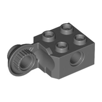 LEGO 4225975 BRICK 2X2 Ø4.85 VERTIC. SNAP - Dark Stone Grey