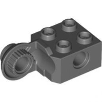 LEGO 6343337 BRICK 2X2 Ø4.85 VERTIC. SNAP - DARK STONE GREY