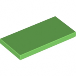 LEGO 6173814 PLATE LISSE 2X4 - BRIGHT GREEN