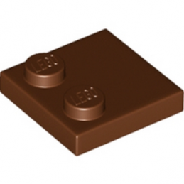 LEGO 6196221 - Plate 2x2 - Reddish brown