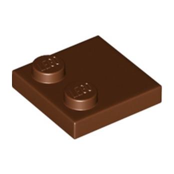 LEGO 6196221 - Plate 2x2 - Reddish brown
