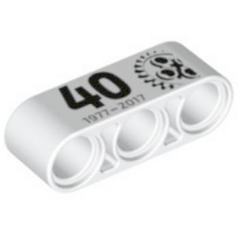 LEGO 6170737 - Beam 3 - Imprimé 40 ans Technic