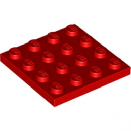 LEGO 303121 PLATE 4X4 - ROUGE