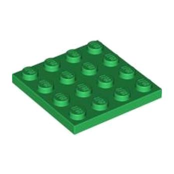 LEGO 4113158 PLATE 4X4 - DARK GREEN