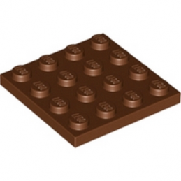 LEGO 4225868 PLATE 4X4 - REDDISH BROWN lego-4243838-plate-4x4-reddish-brown ici :